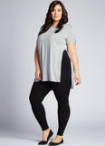 Hi-Waisted Bamboo Leggings: Black : Plus Size