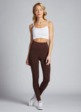 Hi-Waisted Bamboo Leggings: Brown : One Size