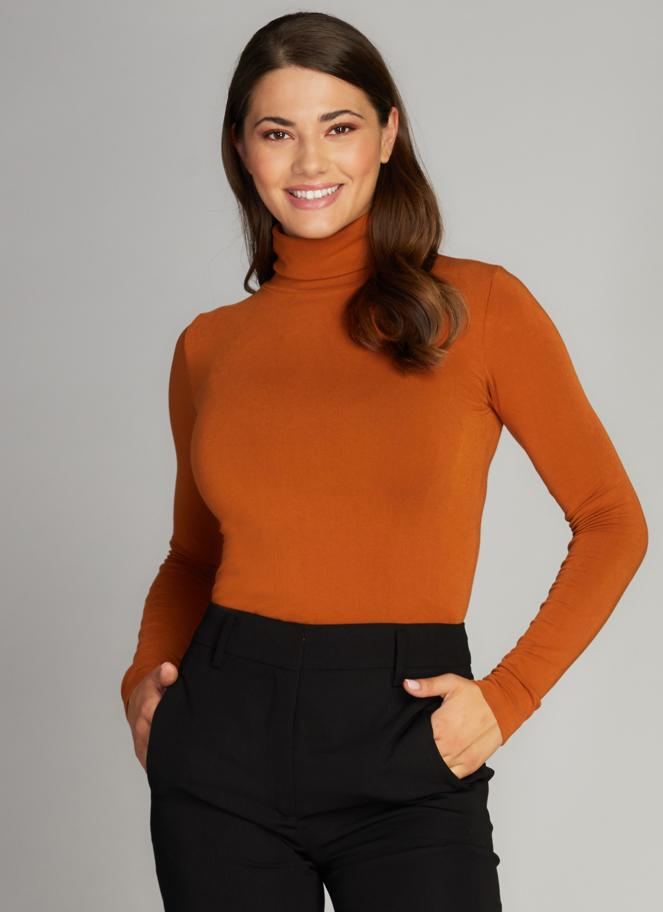 Bamboo Turtle Neck: Ginger