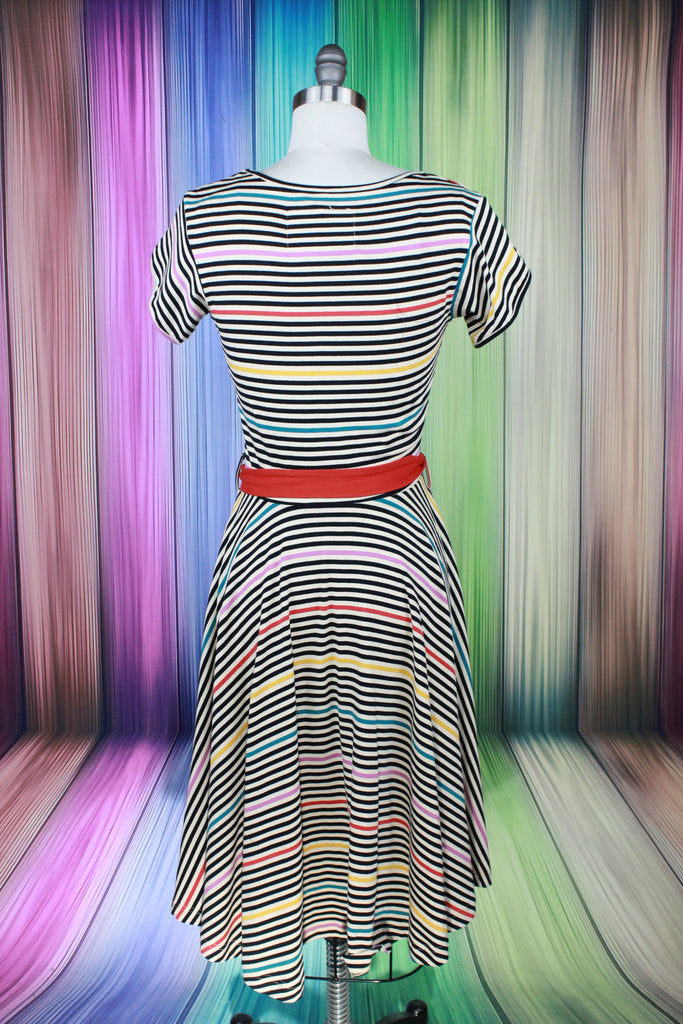 Prismatic Stripes Dress