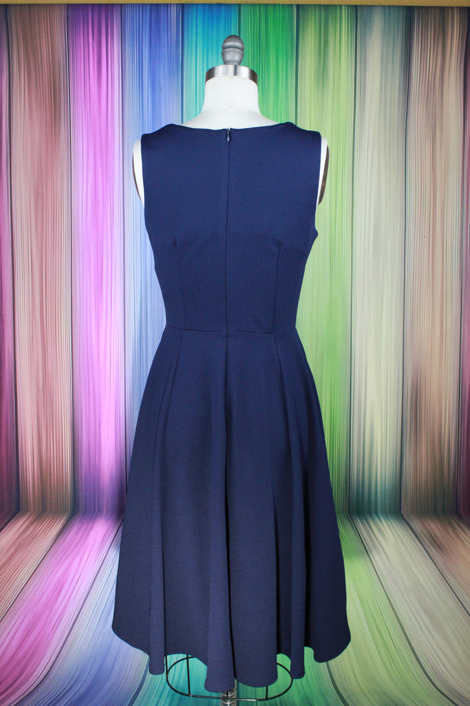 Classic Navy Swing Dress
