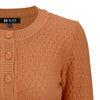 Vintage Style Crochet Cardigan: Dusty Orange