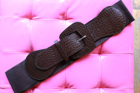Rodeo Round-Up Stretch Belt: Antique Silver