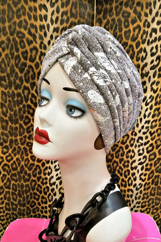 Be-jeweled Green Velvet Head Wrap