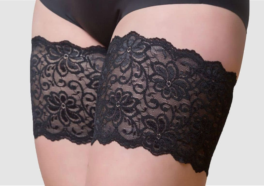 Bandelettes Anti-Chafing Thigh Bands: Black Lace