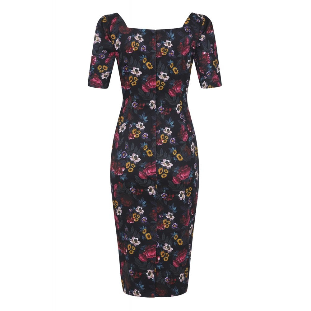 Dolores Midnight Floral Dress