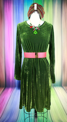 Celine Green Stretch Velvet Gown
