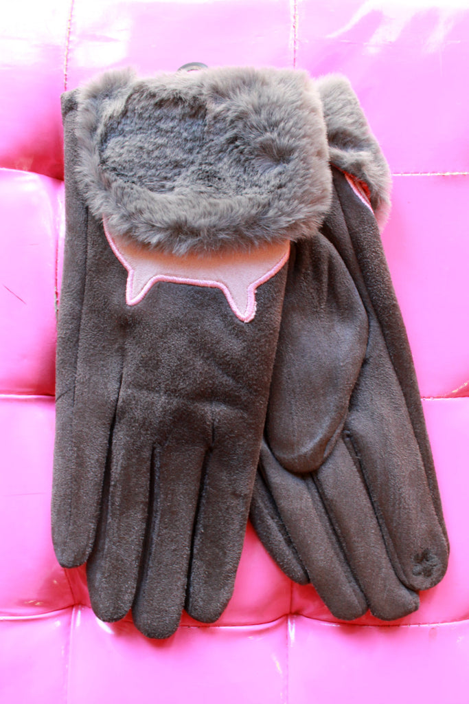 Grey Cat Gloves