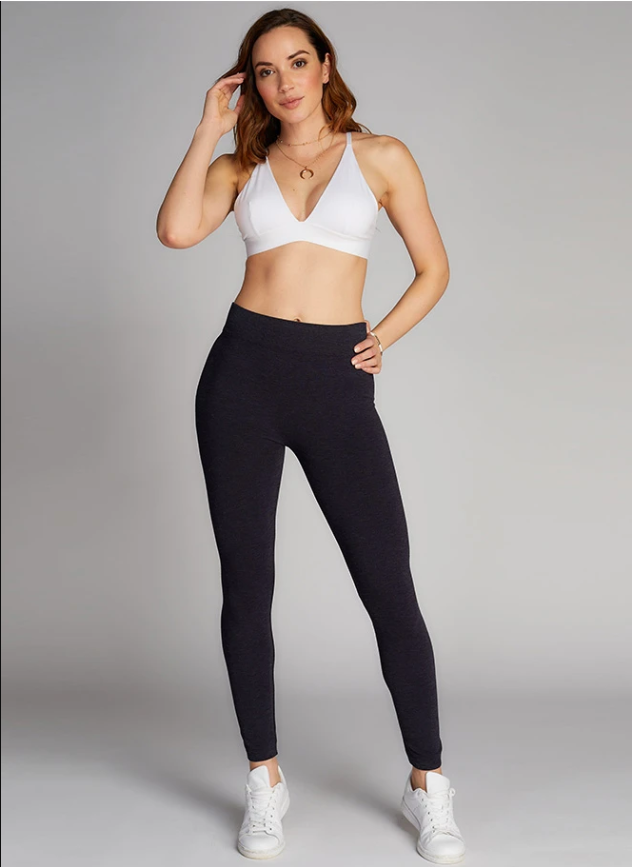 Bamboo Leggings: Heathered Grey: One Size