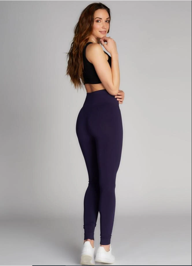 Hi-Waisted Bamboo Leggings: Navy : One Size