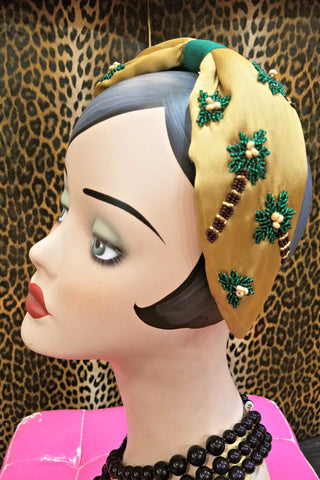 Vintage Style Head Covering: Sparkle Stripe