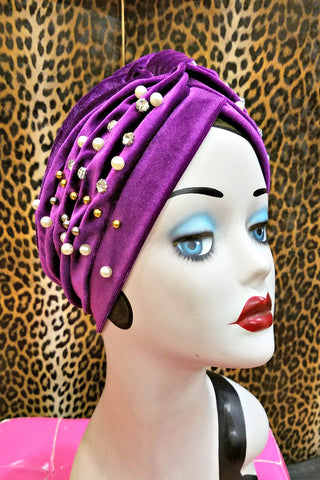 Red & Gold Sparkle Head Wrap