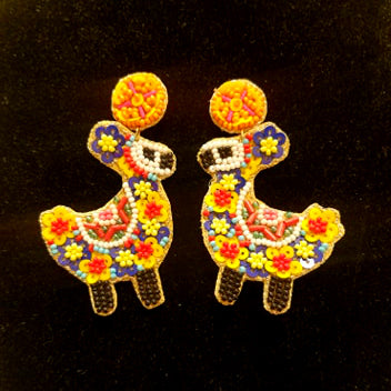 Beaded Llama Earrings