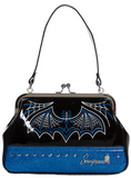 Pinstripe Batty Purse