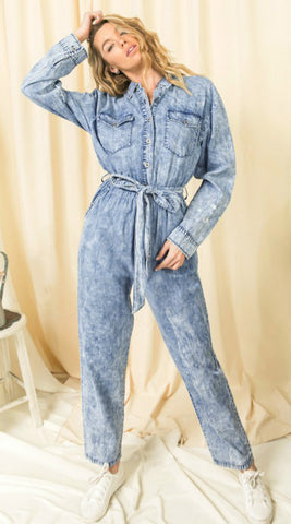 Starry Night French Terry Jumpsuit