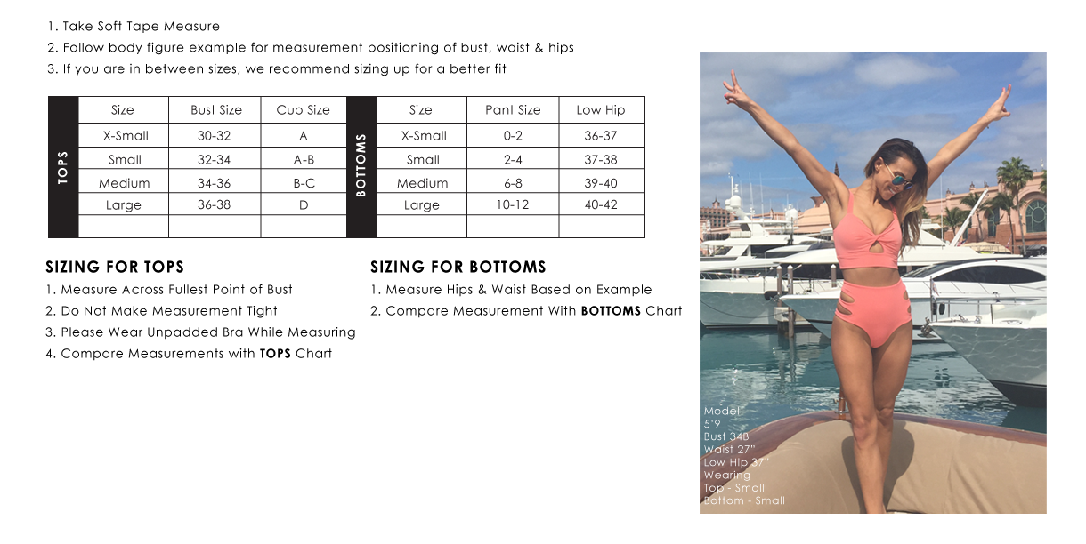 J. Marie Swimwear Size & Fit Guide
