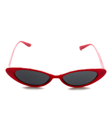 Red Classic Cat-Eye Sunglasses - J.Marie Swimwear