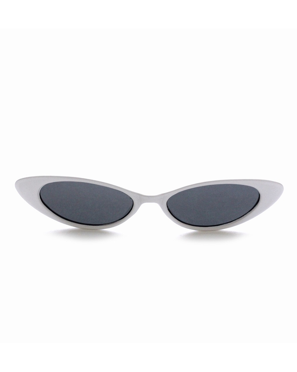 White Classic Cat-Eye Sunglasses - J.Marie Swimwear