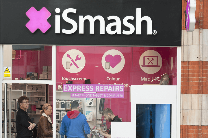 External view of our iSmash repair store on High Street Kensington