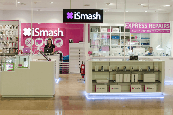 Visit iSmash to fix your broken phone screen in Canary Wharf