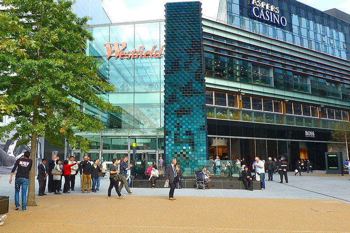 exterior view of the westfield stratford shopping centre