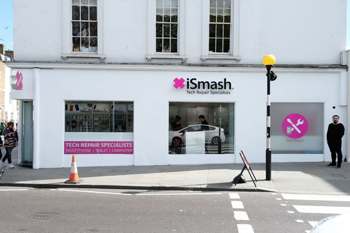 External view of our iSmash repair store on King's Road in Chelsea