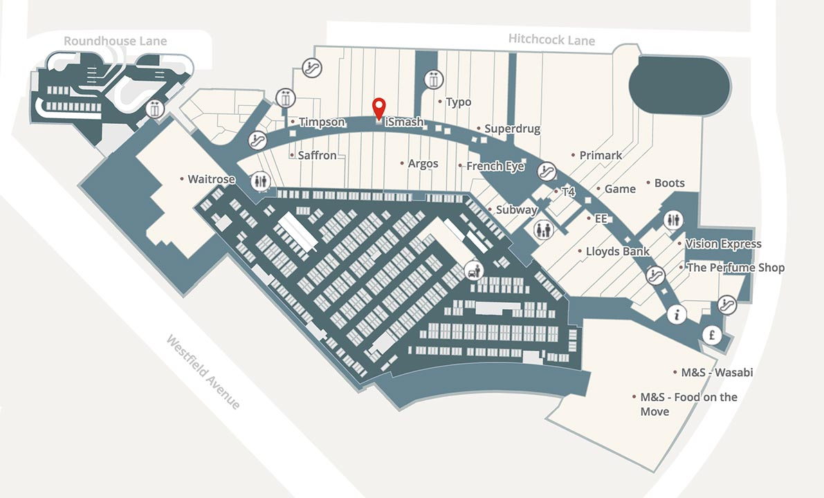 Westfield Stratford Map Phone Repair in Westfield Stratford City | iPad & Laptop Repairs  Westfield Stratford Map