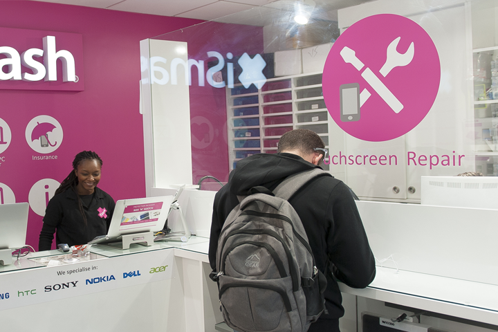 Our phone repair store in Victoria Station, London