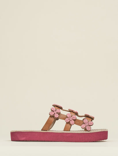 Adara SSR Leather Sandal Baby Pink
