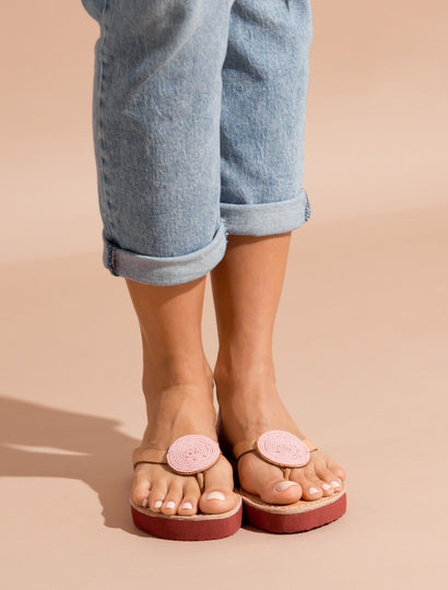 Doli SSR Leather Sandal Baby Pink