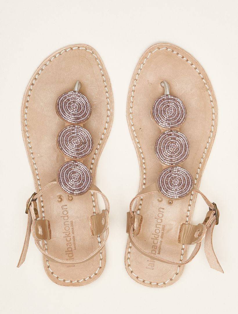 Isko SSR Tan Leather Sandal Silky Pink