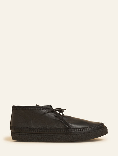 Men's Shenje Chukka Boots Black Leather