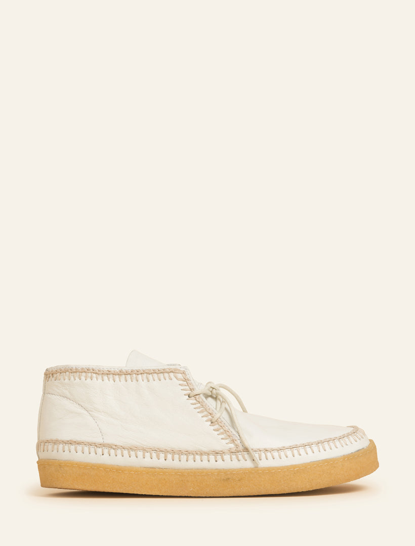 Men's Shenje Chukka Boots Off-White Leather