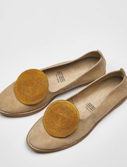 Moli Sand Suede Gold