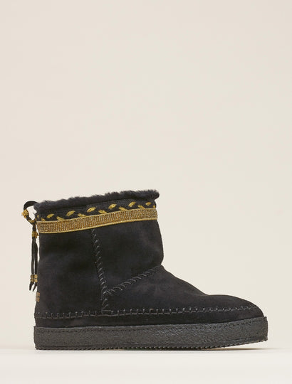 Nyali Classic Pull On Ankle Boot Black Suede