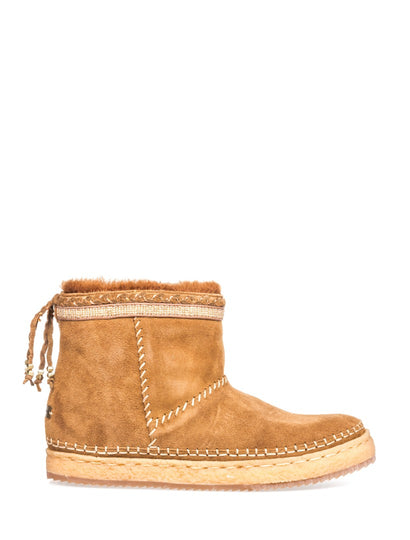 Nyali Classic Pull On Ankle Boot Mustard Suede
