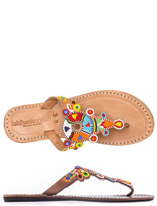 Simba Flat Mid Brown Tribal