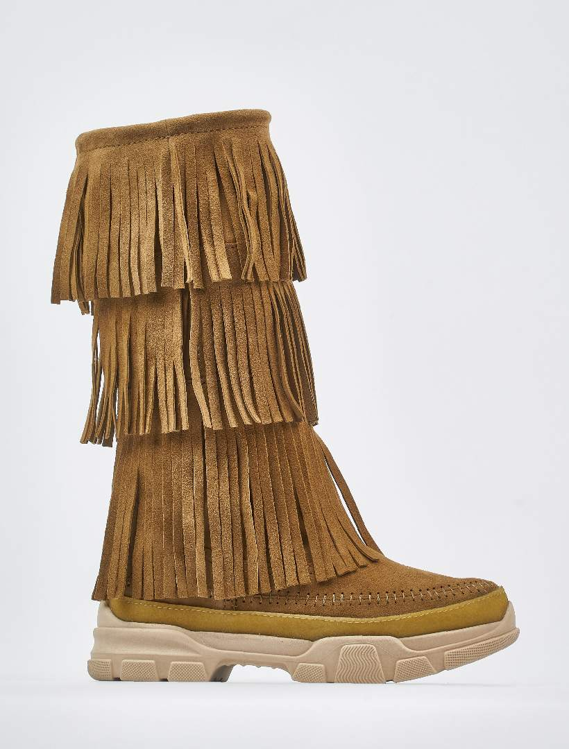 Unai 2.0 Tall Pull On Boot Camel Suede
