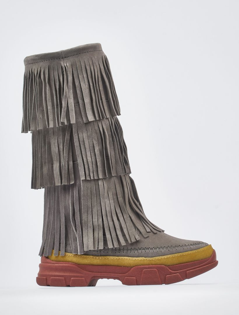 Unai 2.0 Tall Pull On Boot Grey Suede