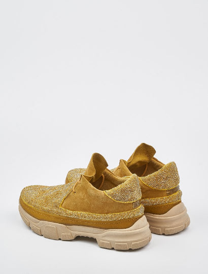 Wintun Beaded 2.0 Sneaker Saffron Suede