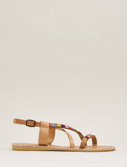 Azari Flat Leather Sandal Tribal