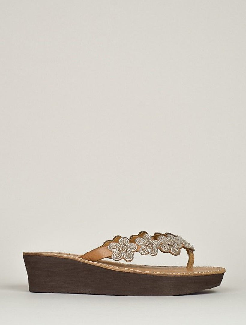 Conley Wedge Light Brown Silver