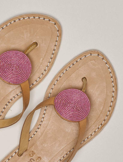 Doli Flat Light Brown Metal Pink