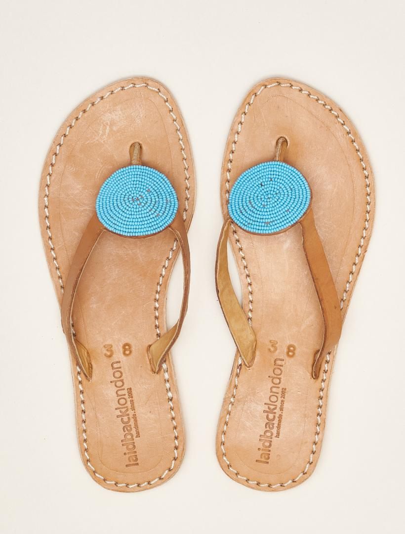 Doli Flat Light Brown Turquoise