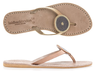 Doli Flat Tan Metal Silver/Grey