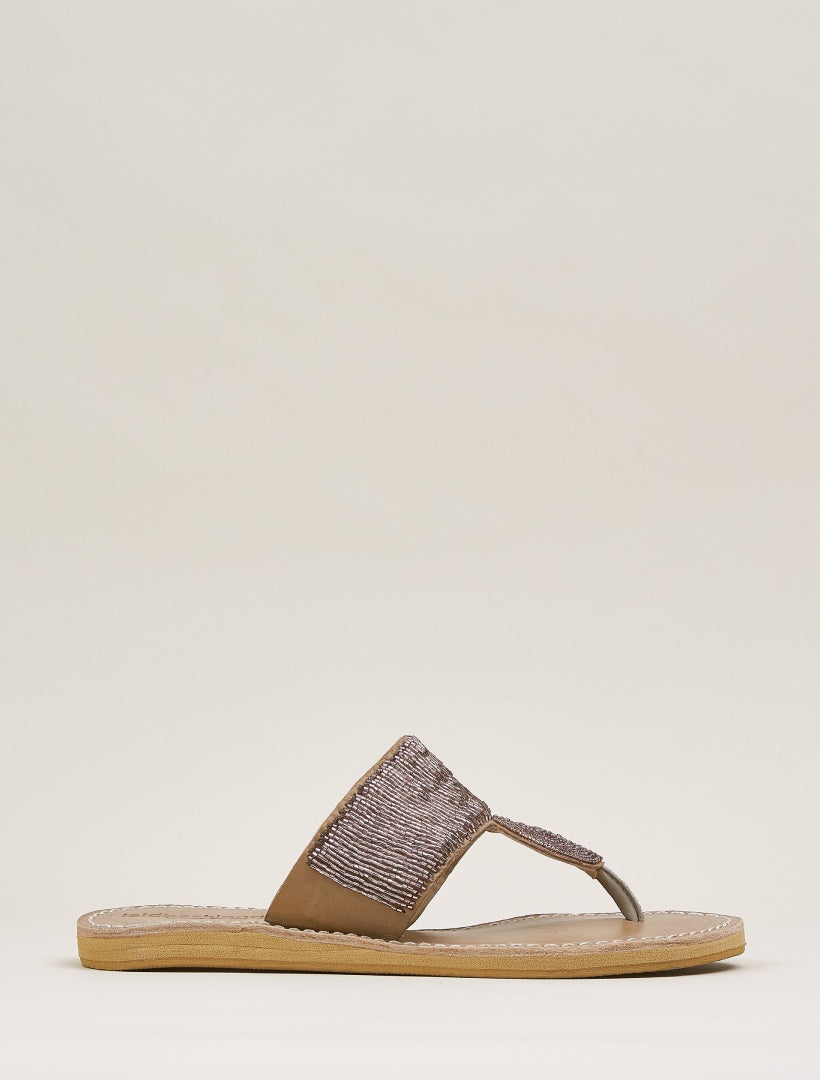 Heron Lp Tan Leather Sandal Silky Pink