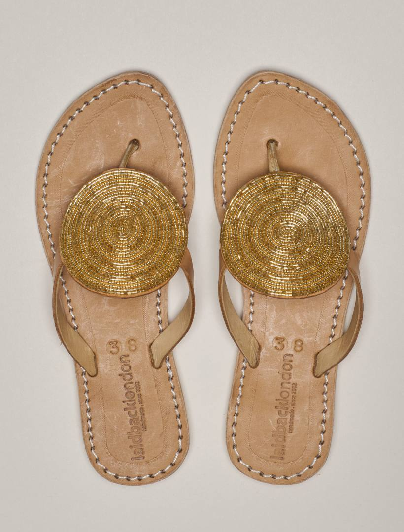 Jayda Flat Light Brown Gold