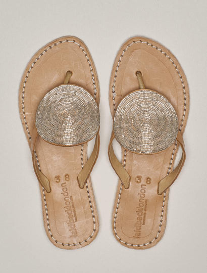 Jayda Flat Light Brown Silver