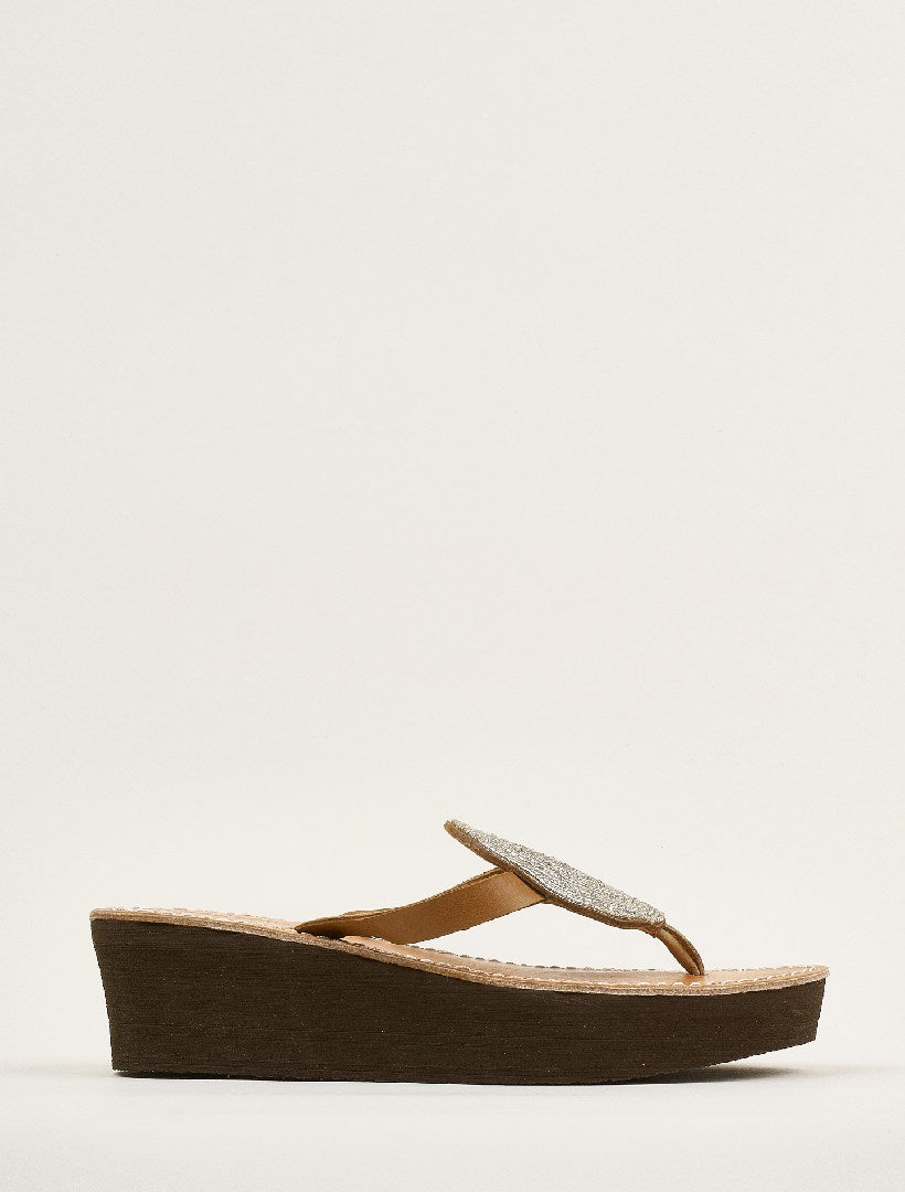 Jayda Wedge Light Brown Silver