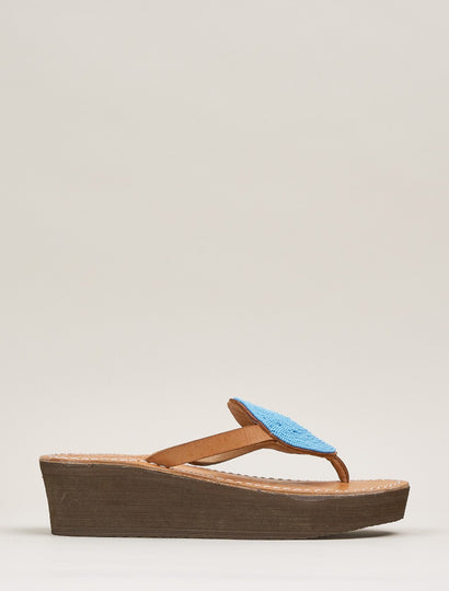 Jayda Wedge Light Brown Turquoise